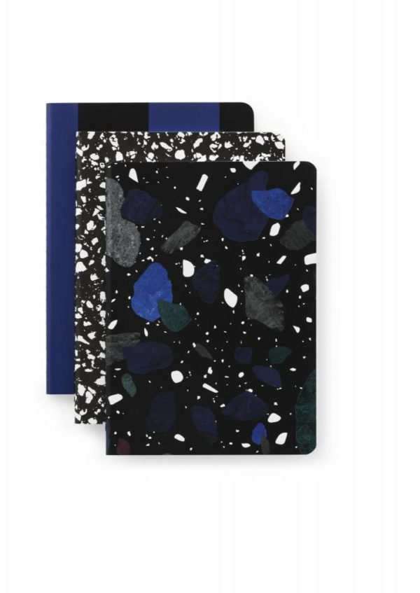 Notebook Dark Print Large 3 pcs