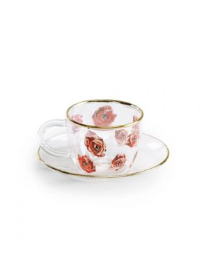 Coffee Glass Roses Toiletpaper