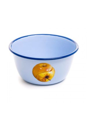 Apple Enamel Bowl