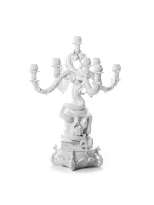 Burlesque Skull Candle Holder