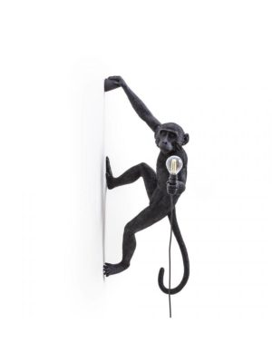 Monkey Hanging Lamp Right Black