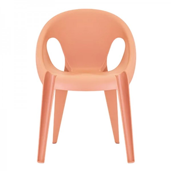 Magis bell chair sunrise orange recycled polypropylene konstanti grcic
